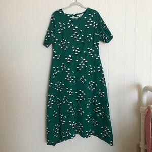 Boden 14L Green Dress